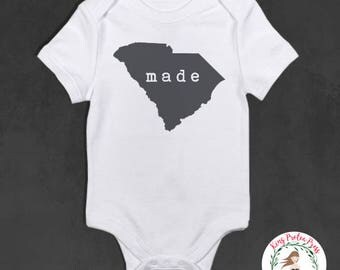 state pride baby bodysuit, state pride baby outfit, funny baby bodysuit, personalized baby bodysuit, personalized baby gift
