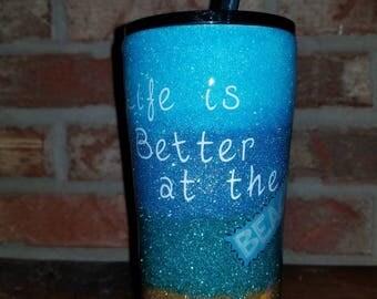 Custom Glitter Tumbler