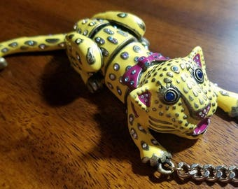 Viva La Betsey Johnson Yellow Tiger Leopard Panther Necklace Collection
