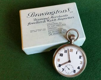 WW2 War Office Military Pocket Watch sold by Bravingtons of London