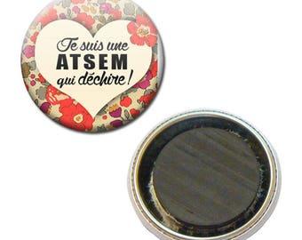 Badge 38 mm Fridge Magnet - I'm a school that rocks kindergarten flower child gift