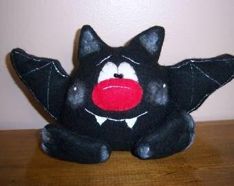 Primitive Folk Art Halloween Bat Doll Ornie Shelf Sitter