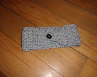 Grey wool headband for women