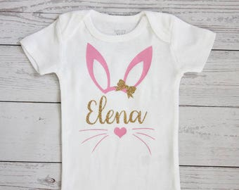 Easter bunny bodysuit | Personalized Easter bodysuit, Easter outfit, Easter, My first Easter, First Easter, Bunny  Ask a question