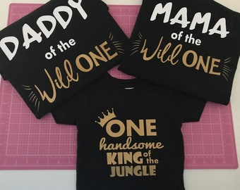 King of the Jungle Shirt,Mom of the Wild One,Dad of the Wild One, Zookeeper Birthday shirt, Jungle Birthday, Safari Birthday Shirts,