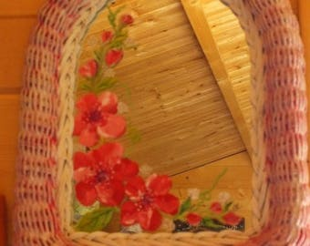 Rattan - painted mirror