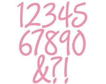 Die of cutout Marianne Design Collectables Charming nine numbers