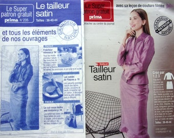 SEWING pattern PRIMA - No. 235 - SATIN suit for women