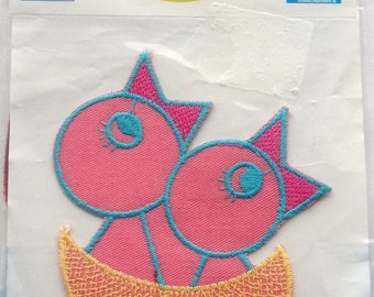 PATCH fusible APPLIQUE chicks in nest - ref.  83