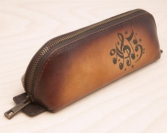 Genuine leather its case you can by for your daughter or wife its a nice gift .