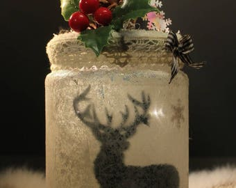 "Candle LED ""deer"" Christmas Garland, decoration, winter"