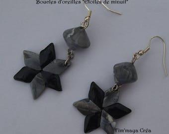 """Midnight stars"" earrings"