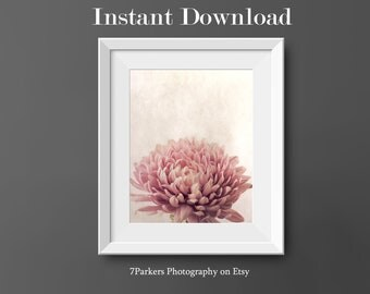 Printable Wall Art Floral; Bathroom Wall Decor; Printable Pink Flower Art; Home Decor Wall Art; Wall Art for Laundry Room,Bathroom, Kitchen.