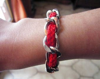 Bracelet chain and cord