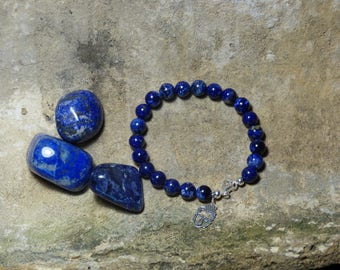 Bracelet of lapis lazuli beads 8mm and Buddha