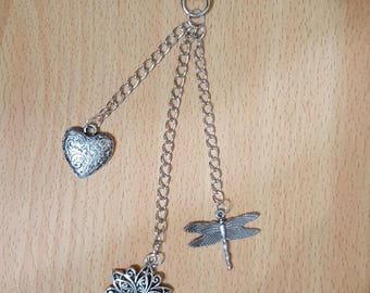Jewelry bag Keychain 3 charms