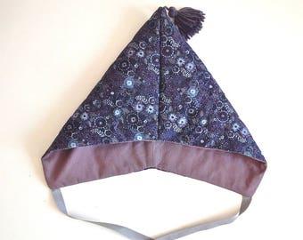 Quilted Liberty - LIberty blue Reiko baby Pixie Hat