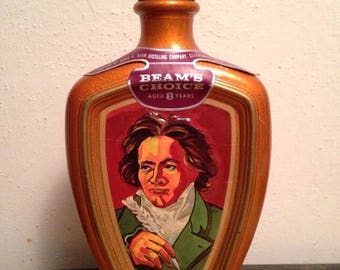 Jim Beam Man Cave Decanter Beethoven Beams Choice Whiskey Perfect Gift!