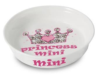 Personalised Bling Princess Pet Bowl | Ceramic Pet Dog Cat Bowl | Feeding Bowl | Pet Lover | Dog Cat Lover