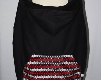 Universal black carrying cape cover and red stars