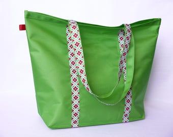 Tote bag - Apple green beach bag