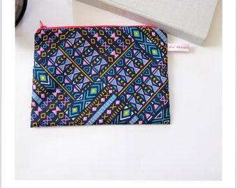 """clutch bag zip """"essential"""" vintage geometry"""