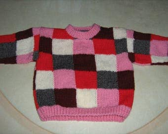 Check for new hand knitted girl sweater