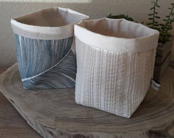 Small baskets, empty pockets, baskets in trendy natural fabrics
