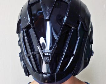 Painted and wearable Warlock's helmet Obsidian Mind