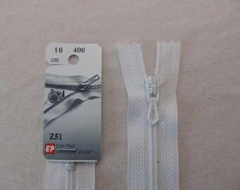 White nylon zipper (Z51 400)