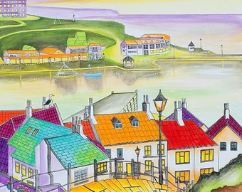 Whitby Steps - Prints & Cards