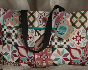 Large multicolored patterned bag