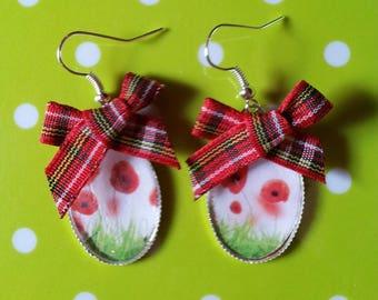 """Earrings """"Scottish Poppy"""" series """"in the garden"""""""