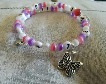 gradient pink butterfly nursing bracelet