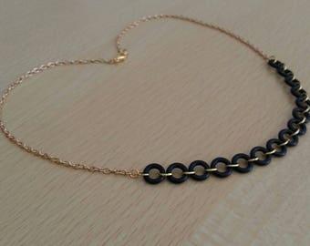 Original and Unique black and gold necklace