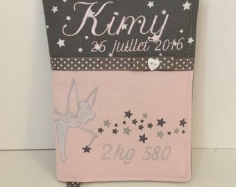 Health booklet protection cover personalized with name boy or girl depending on request