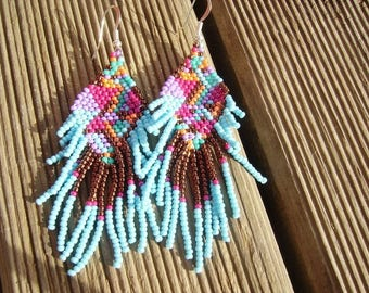 Bollywood earrings turquoise