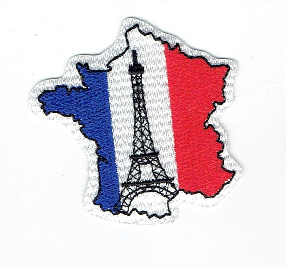 """Patch fusible trend pattern """"france"""""""