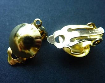 13mm - gold plated (2 pairs) clip on earrings