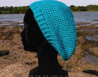 """Seaside"" hat around 56 cm Crochet of acrylic blue/Caribbean"