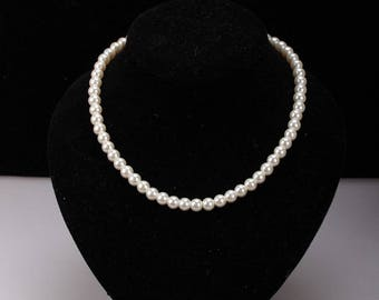 Set of glass bead and Silver 925 white cream wedding jewelry