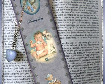 "Laminated bookmarks ""Baby boy"""