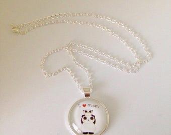 Long necklace mi pandas I love Mum