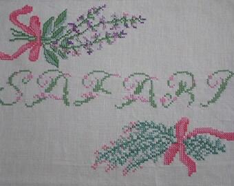 Safari beige embroidery