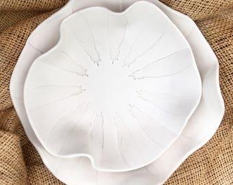 Feather bowl porcelain