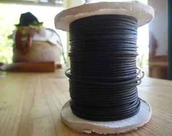 cordon noir de coton enduit pour bijoux, confection
