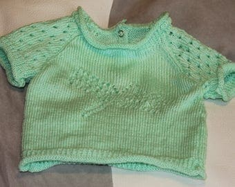 Pullover short sleeves, openwork dragonfly