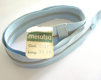 sky blue zipper 55cm Dmc Metalsa No. 2837 50-70 years