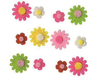 "20 assorted shapes ""Mini flowers"" - Artemio - Ref 13070174 felt"