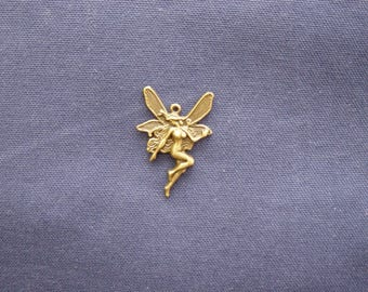 1 large fairy charm bronze 42 x 30 mm